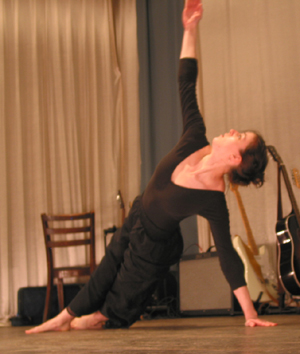 Ashley Eastman performs a modern dance piece at Open Stage, Union Hall Theater, Chesterhill, OH