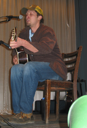 Todd Shipley plays acoustic rock and roll at Open Stage, Union Hall Theater, Chesterhill, OH
